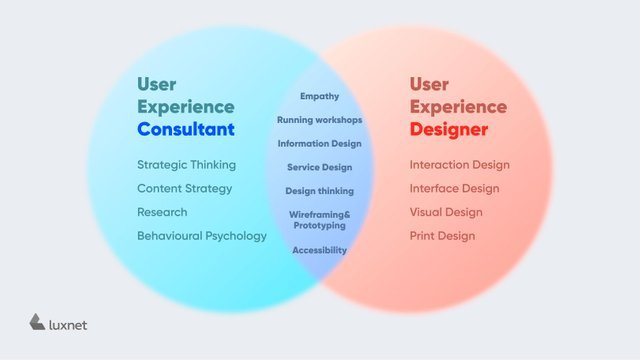User Experience consultant and User Experience Designer Values (Commonalities and Differences)